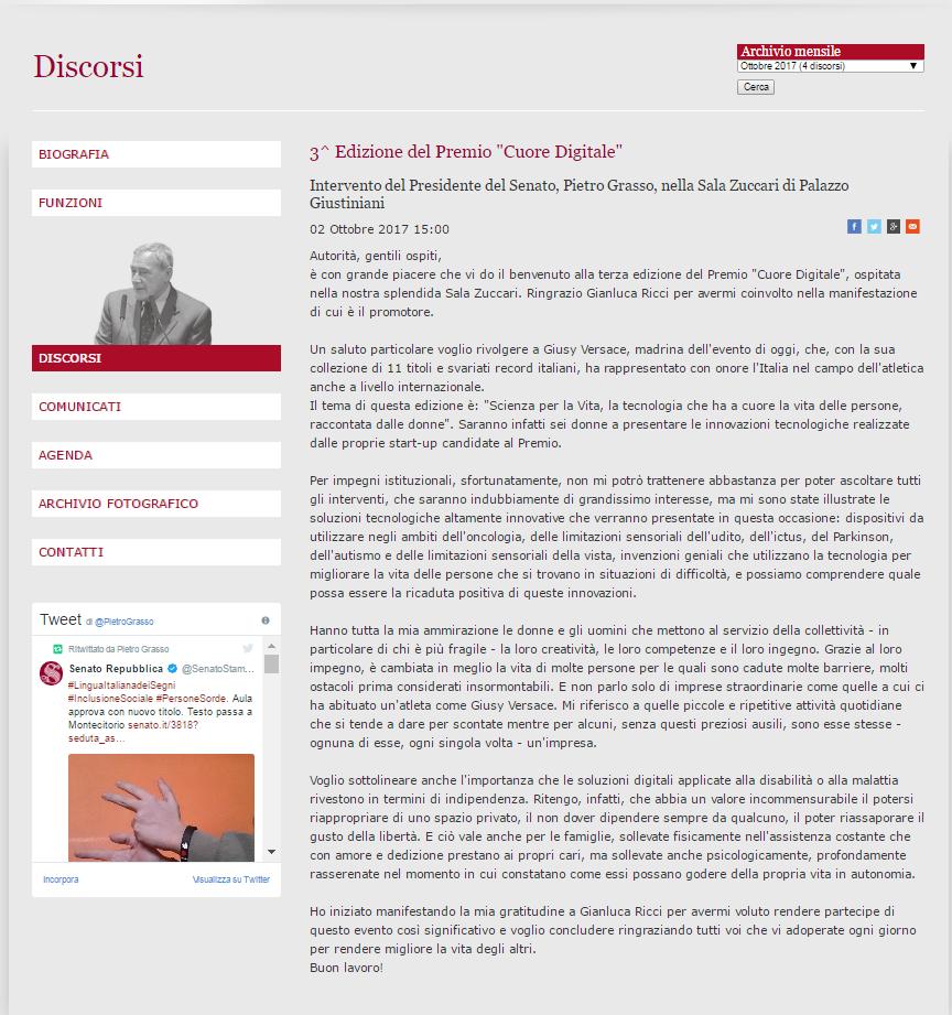 discorso Pietro Grasso