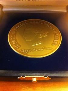 Medaglia Presidente della Repubblica a Gianluca Ricci Presidente Premio Cuoore Digitale